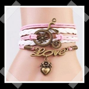 Tricycle Love & Love Charm Infinity Leather Charm
